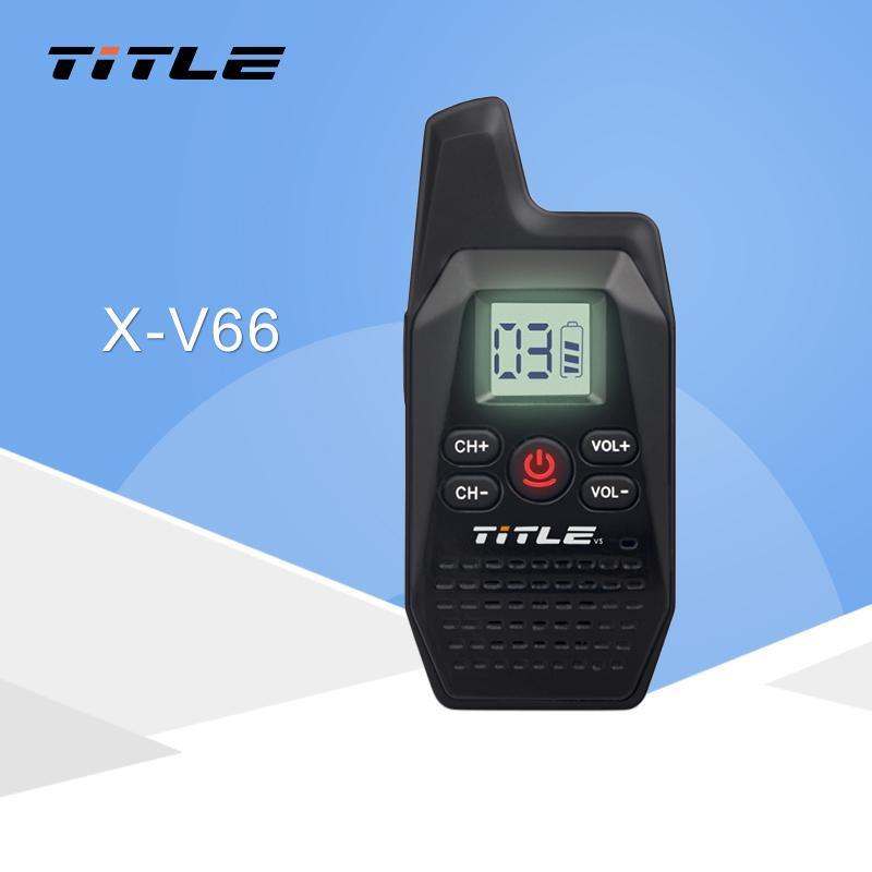 wholesale KSUN X-V66TFSI Mini Portable Walkie Talkie Ham Two-Way Radio  Transceiver UHF 400-480MHz with USB Power Supply Earpieces