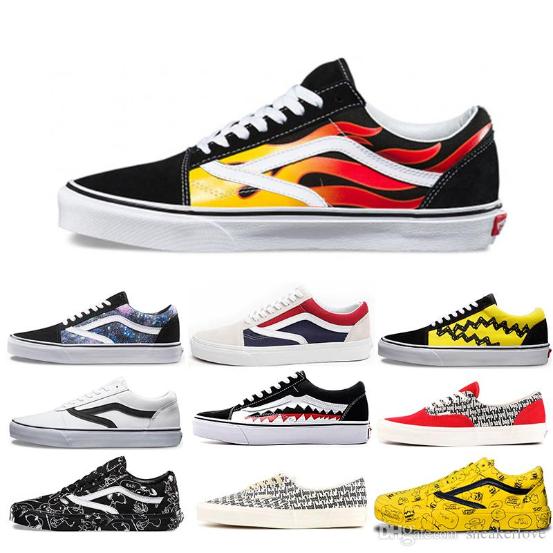 67da967d90d1 Designer Shoe Old Skool Canvas Shoes Flame Pack Low Shark Tooth Fear God  Fog Era 95 Canvas Shoes For Students Skateboard Shoes SNEAKER Mens Loafers  Buy ...