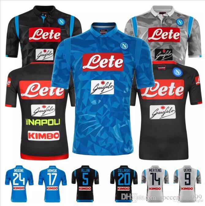 febad5e884c92 2019 New 2018 2019 Napoli Soccer Jersey 18 19 Naples 2018 Home HAMSIK  INSIGNE MERTENS CALLEJON Camisetas Futbol Camisas Maillot Football Shirt  From ...
