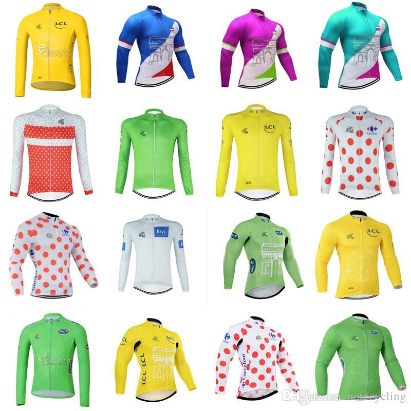 TOUR DE FRANCE Team Bike Long Sleeve Sweatshirt Men S Shirt Bike Cycling  Wear Mountain Bike Wear Outdoor Sportswear A42311 Custom Bike Jerseys  Mountain Bike ... 5c8c5d727