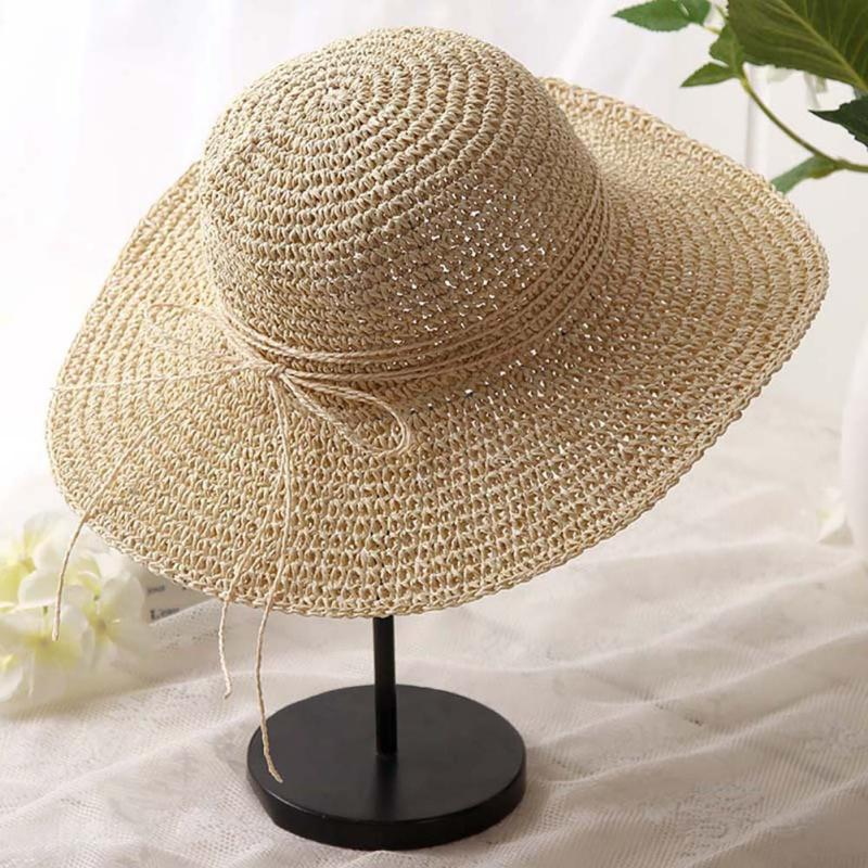 9fdc3a5bfc6 2019 Women Summer Hats Panama Hat Female Sunscreen Fishing Sport Manual Hat  Beach Lady Saves Sun Side Straw 2018 From Hongmihoutao