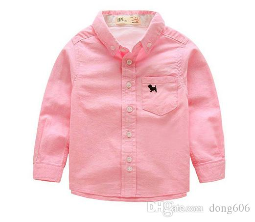 2018 Hot Sell Baby Kid Boy's Long Sleeved Shirts T-shirt