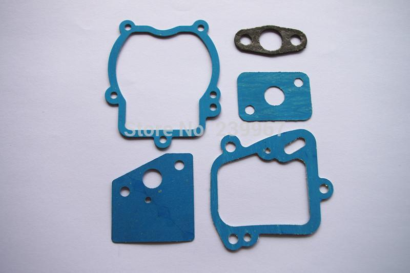 2 X Gasket set 5pcs fits Honda GX22 GX31 FG100 2.5HP 4 cycle motor engine brush cutter replacement part
