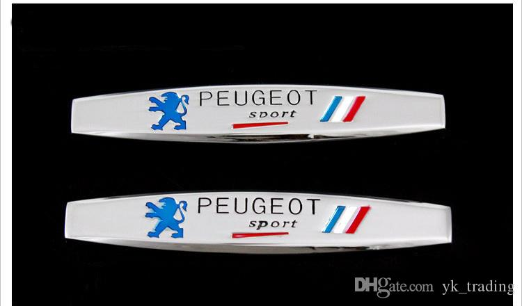 3D Francia Bandiera nazionale Badge Lega di metallo Parafango Trunk Tail Emblem Sticker Car Styling Peugeot Sport 307 206 408 508 406 3008