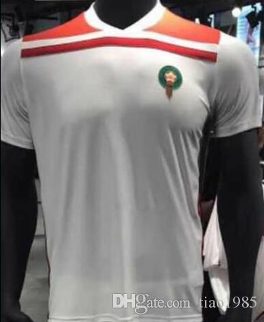 3a19b67eb8fa0 Marruecos Soccer Jerseys Free2018 Copa Del Mundo En Casa Uniforme De Fútbol  18 19 ZIYEH BOUTAIB BOUSSOUFA BENATIA Camiseta De Fútbol Por Tiao1985