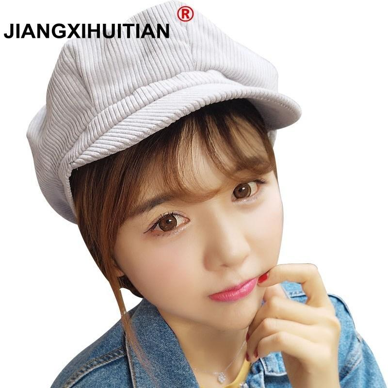 2ed6c80a570e02 2019 New Newsboy Cap Beret Female Male Flat Cap Autumn Winter Hats For Women  Men Octagonal Painter Hat Vintage England Artist From Tonic, $13.83 |  DHgate.