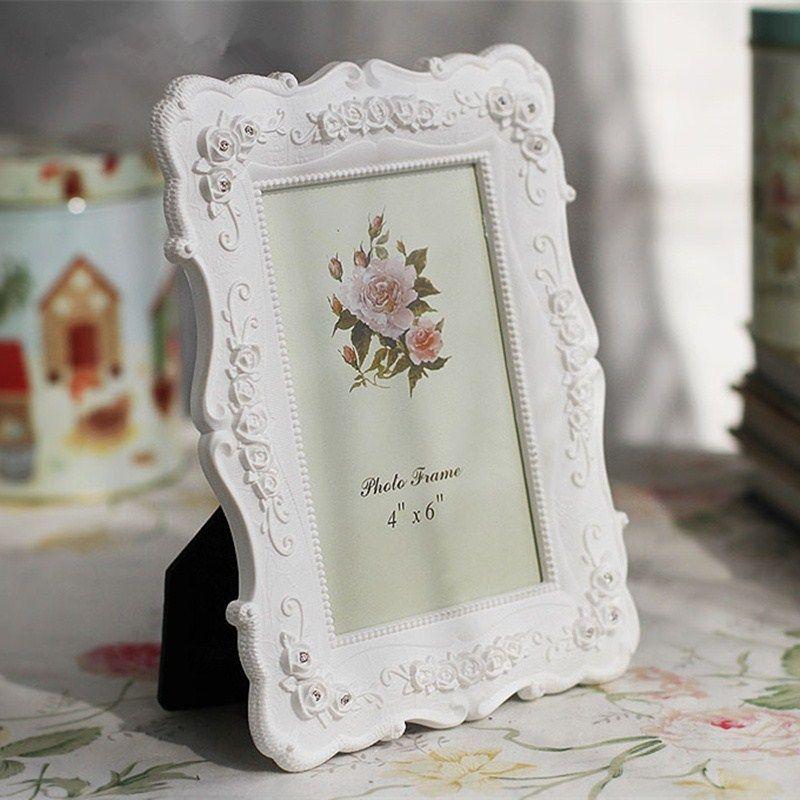 Romantic White Desktop Photo Frame Home Decor Family Baby Photo ...