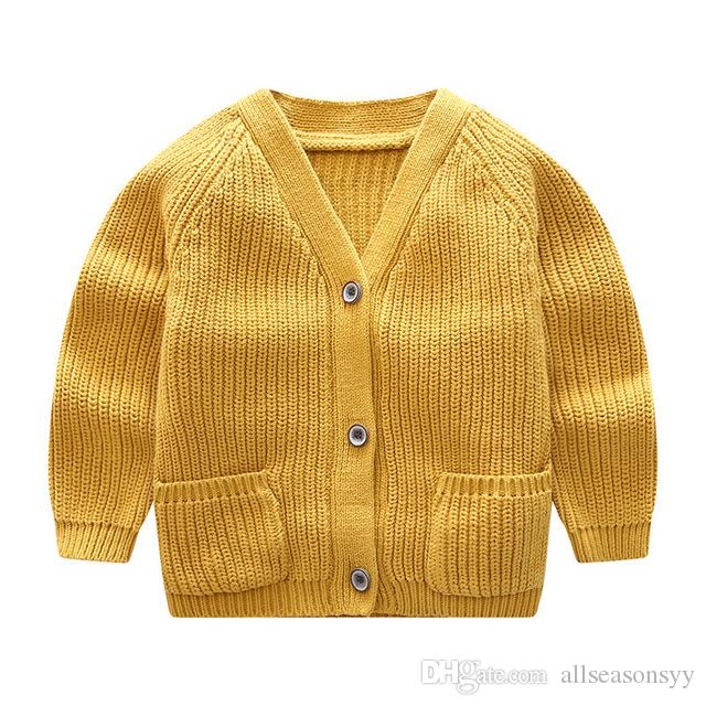 86a7e4b49 New Autumn Baby Boy Knitted Cardigan Hollow Out 2018 Boys Girls ...