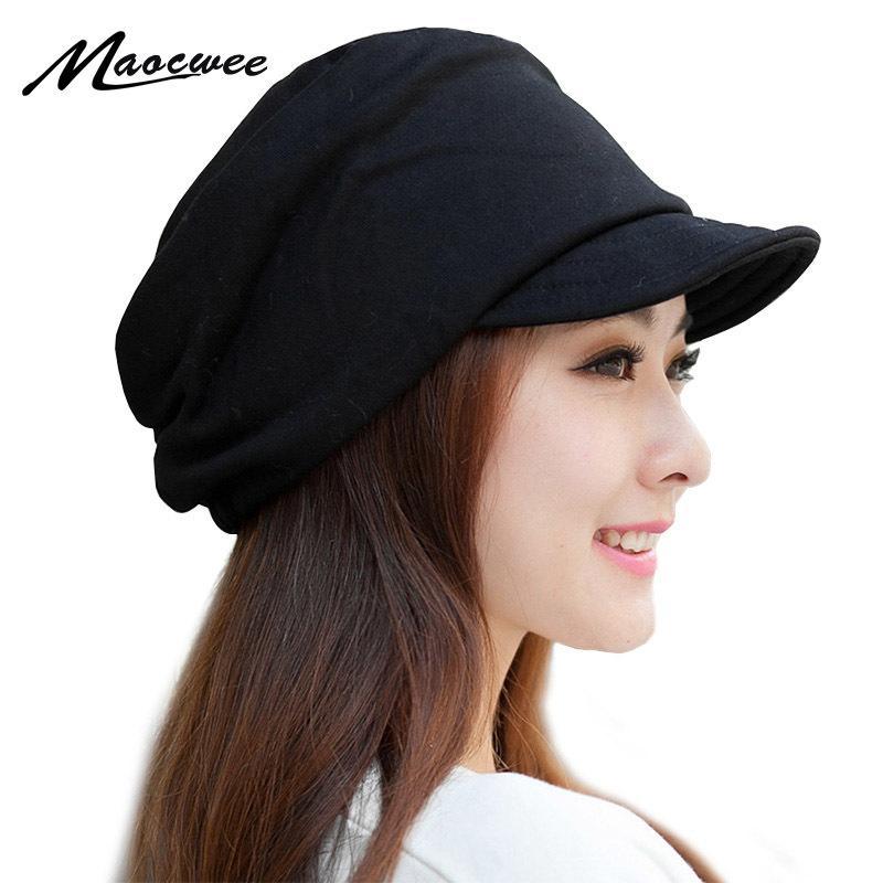 MAOCWEE 2018 Winter Women S Hats Boys Girls Casual Hip Hop Cap Knitting  Warm Cap Female Skullies Beanie Fashion Soft Cap Along S1020 Red Beanie Hats  For ... 5858d36128b