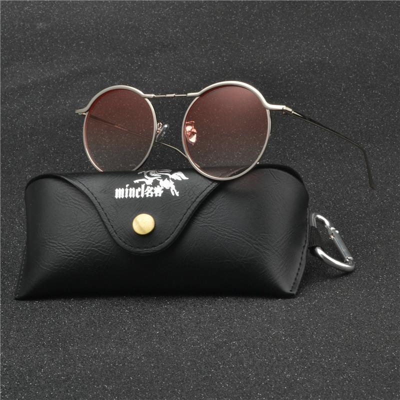 cccbf06ca25 Vintage Round Sunglasses Women Ocean Color Lens Mirror Sunglasses ...