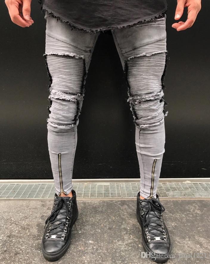003299879f4b Acquista Nuovi Jeans Uomo Strappato Jeans Strappati Plus Size 28 38 Moda  Uomo Afflitto Jeans Skinny Jeans Denim Distrutti Pantaloni J180633 A $32.53  Dal ...