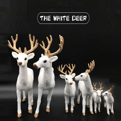 2018 15cm white deer christmas decor reindeer kid doll decor home decoration party ornament hot artificial deer home furnishing articles from sunnysleepvip6