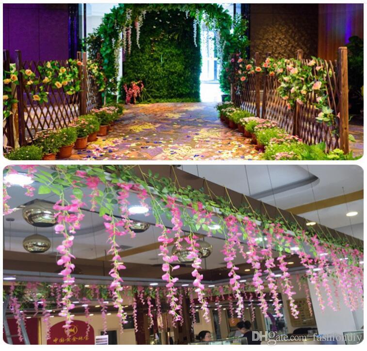 Online Cheap Wisteria Wedding Decor 110cm Artificial Decorative