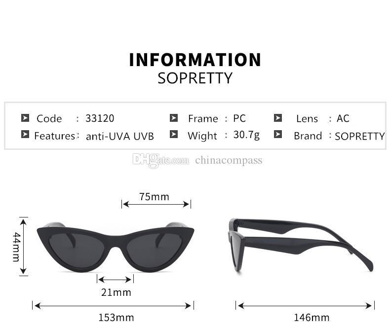 Yeni Vintage Kedi Göz Güneş Kadınlar Marka Tasarımcısı Retro Sunglass Üçgen Bayanlar Sunglass Ayna shades UV400