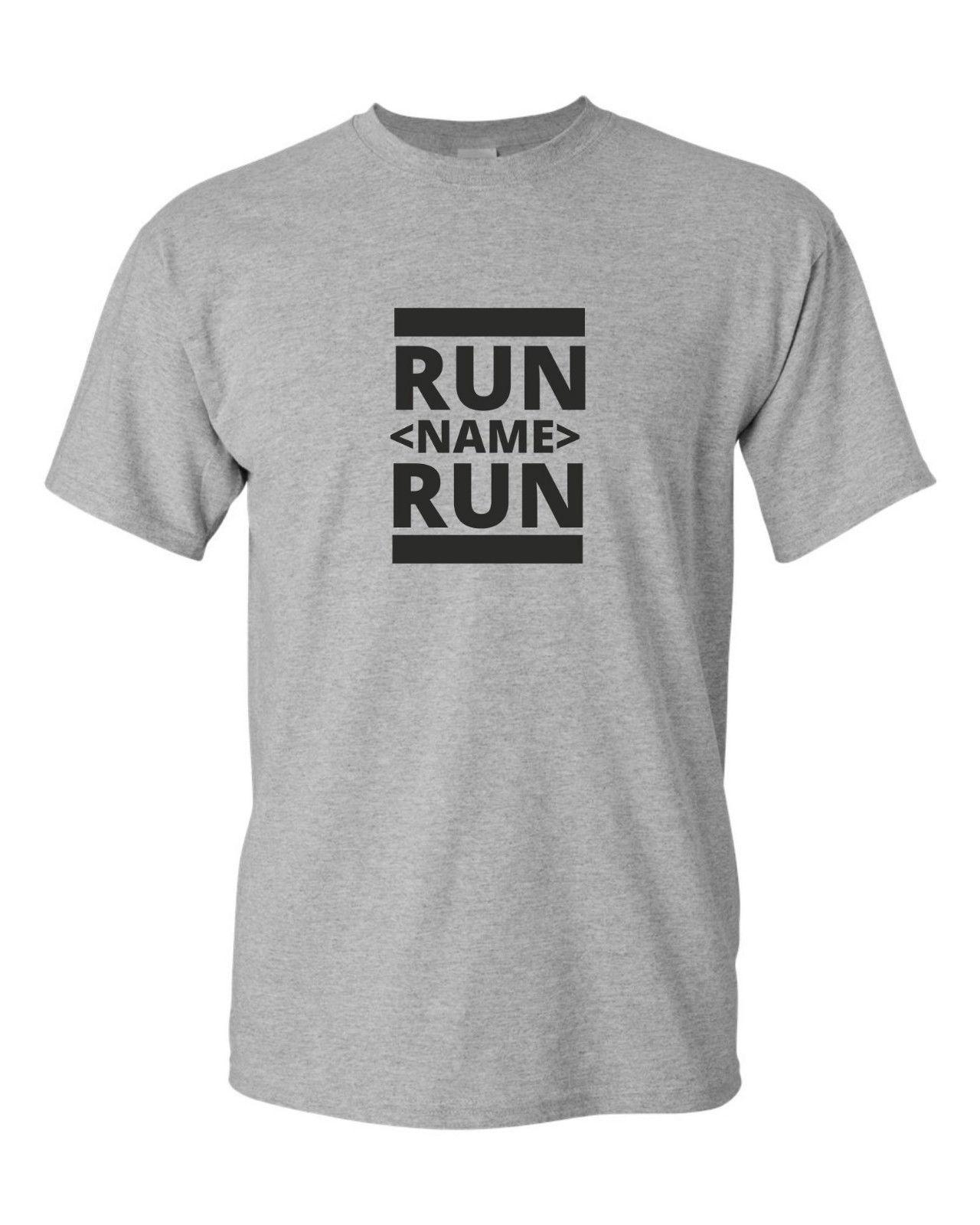 368e9e91ae77c RUN YOUR NAME RUN Funny Mens T Shirt Gift Idea Fun CUSTOM TEXT TSHIRT Funny  Unisex Casual Tee Gift Tee Shirt Shop Online One T Shirt A Day From  Elite direct ...