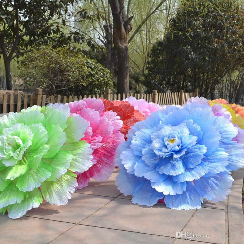 70cm Retro Chinese Peony Flower Umbrella Props Dance Performance Props Wedding Decoration Photograph Fancy Dress Umbrella KJ5484