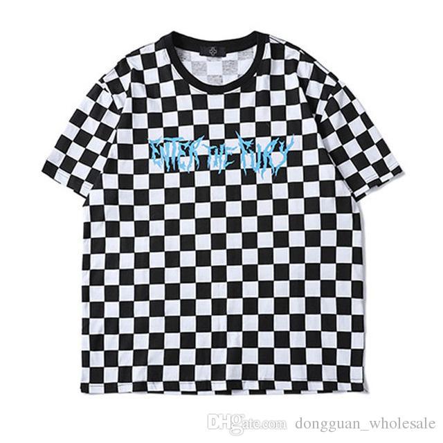 03364507d 2018 Lattice T Shirt Men' Fashion Streetwear High Quality Cotton Hip Hop Top  Tee Short Sleeve Summer Style Casual Plaid T Shirt