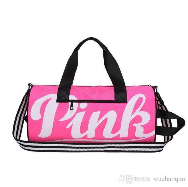 a94ae4b7ac Fashion Duffle Bag Brand Large Capacity Sports Gym Shoulder Bag Handbag  Waterproof Outdoor Pink Letter Travel Sports Designer Handbag Backpacks  Online with ...