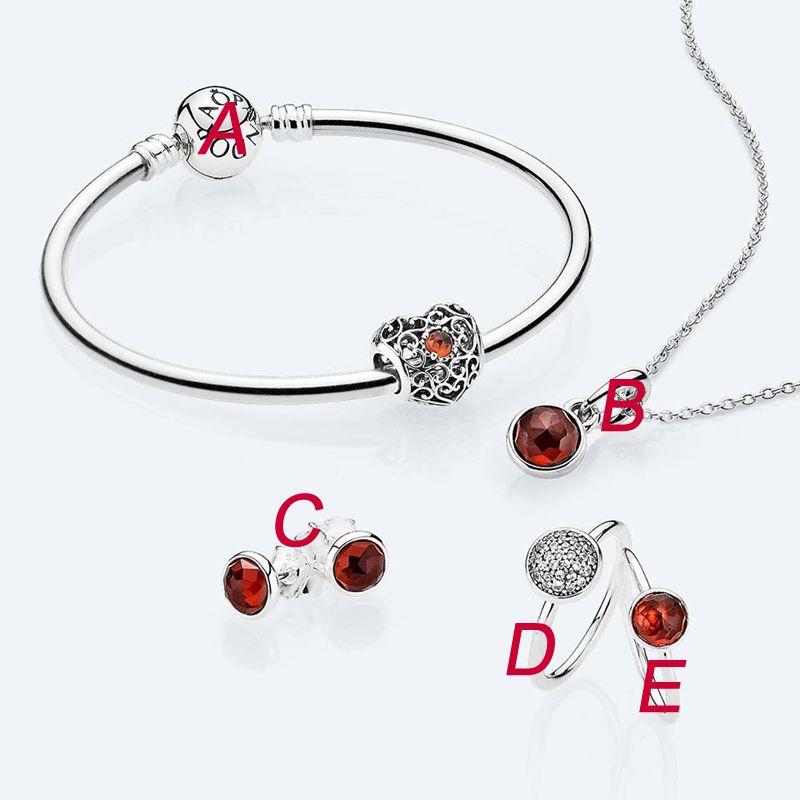 il braccialetto rosso di CZ del braccialetto del braccialetto degli orecchini della collana degli anelli mette insieme l'argento sterlina dei monili dei braccialetti dell'argento sterlina 925 di alta qualità pacchetto completo
