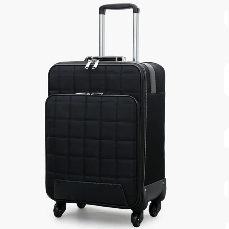 3f9e37c940d0 16/20/24 inch Travel Suitcase Bag,Women Trolley Case ,Fashion Rolling  Luggage Bags,Men Square grid Commercial Box with 4 wheels