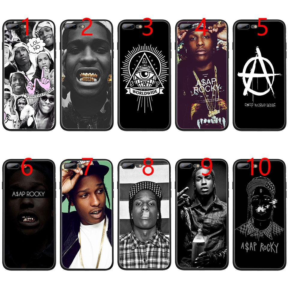 info for 292e7 6ac92 A$AP Asap Rocky Lord Flacko Soft Black TPU Phone Case for iPhone XS Max XR  6 6s 7 8 Plus 5 5s SE Cover