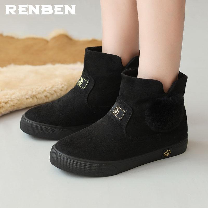642b541cbcc Platform Non Slip Snow Boots Winter Ankle Boots Women Shoes Fur Warm ...