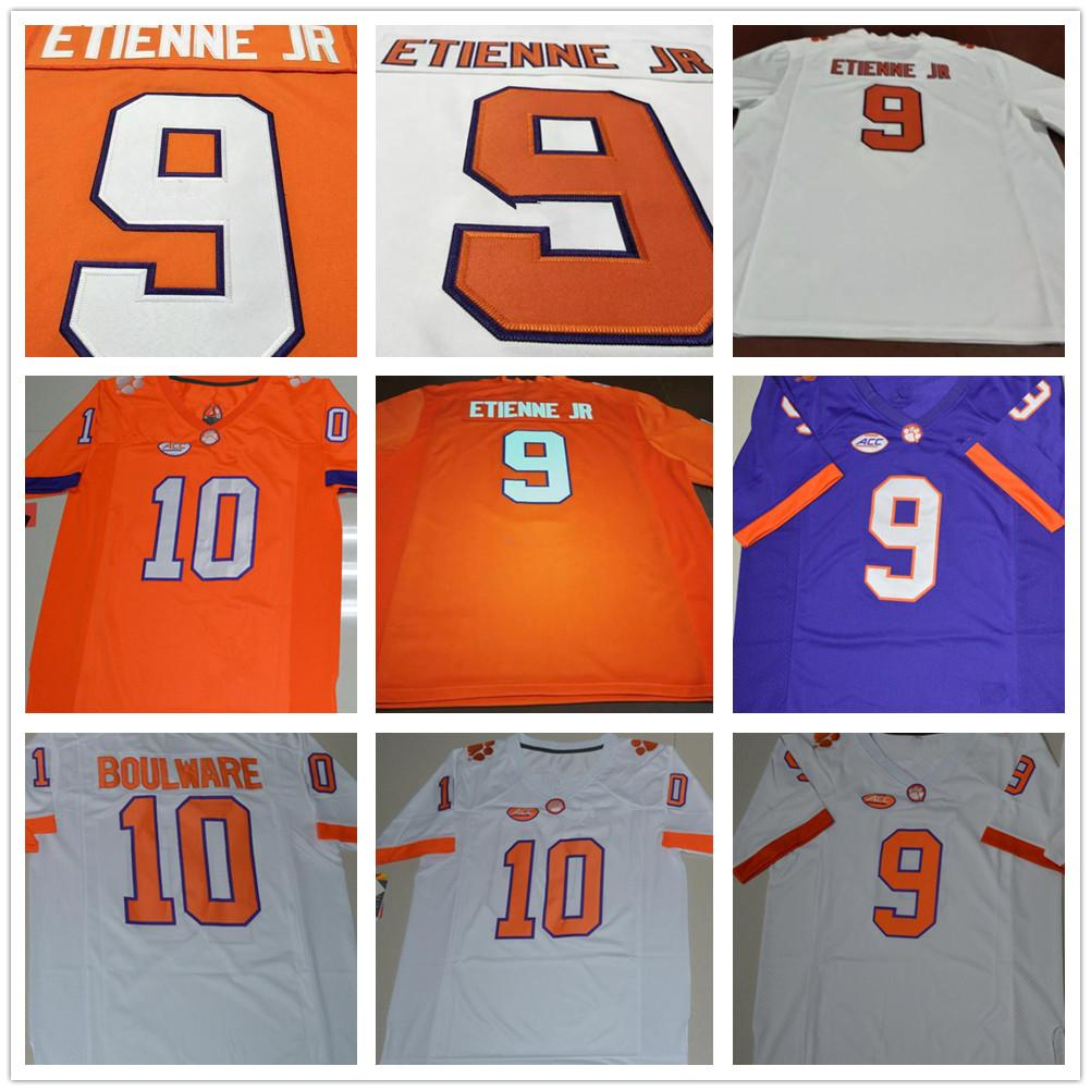 new concept f9f62 a1031 Clemson Tigers 9 Travis Etienne Jr 10 Tucker Israel Baylon Spector Brian  Dawkins Purple White Orange College Mens Women Kid Football Jerseys