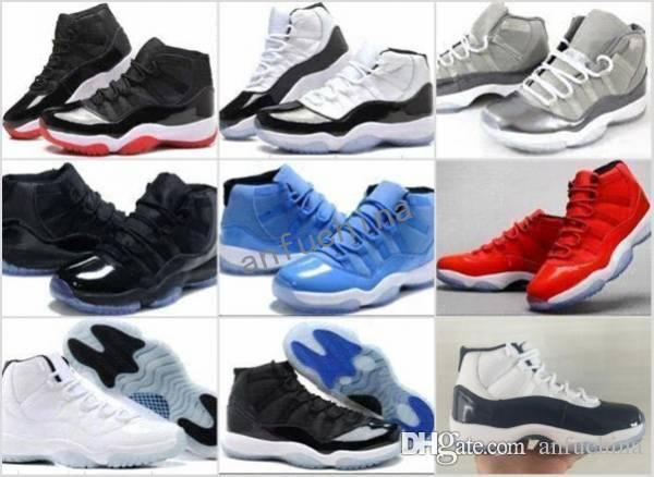 14317f514dd Cheap 11 XI 11s Concord Bred Legend Blue Gamma Space Jam Midnight Navy Gym  Red Paten Leather Nylon Basketball Shoes Men Women GS Sneakers Cheap Shoes  4e ...