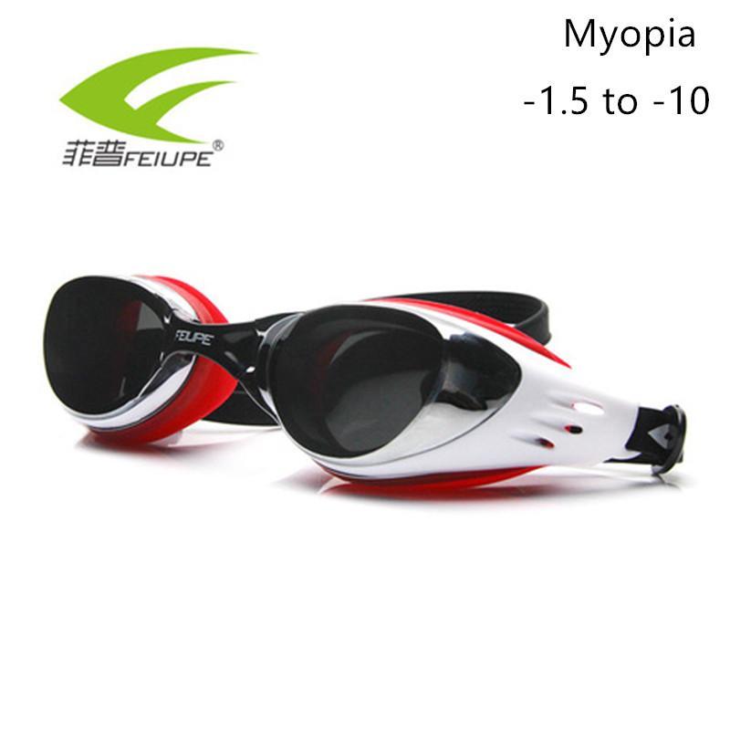 3dddddf8fc27 FEIUPE Myopia Swim Goggles Swimming Diopter Glasses Anti Fog UV ...