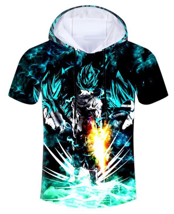 9fe7e8d35376 2018 Anime Funny Tshirt With Cap Men Summer 3D Print Dragon Ball Son Goku T- shirt Man Hiphop Short Sleeve Hooded Hoody 006 2018 Anime Funny Tshirt With  Cap ...
