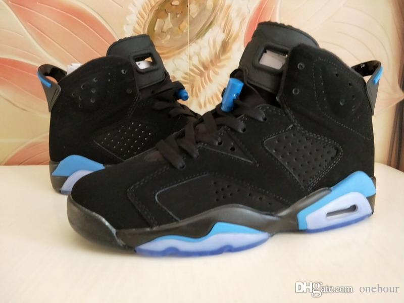 Neueste arrivel UNC University Blue 6 Herren Damen Basketball Schuhe Alle Weiß Schwarz Hochwertige Sport Sneakers Größe 36-47