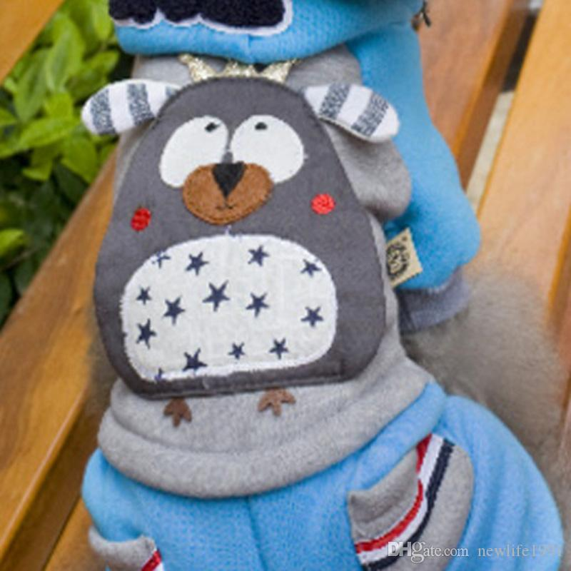 Cartoon Cute Dog Hooded Clothes Owl Print Sweater Winter Lovely Hoodie New Arrival Spring Clothing For Dogs Puppy Free Ship
