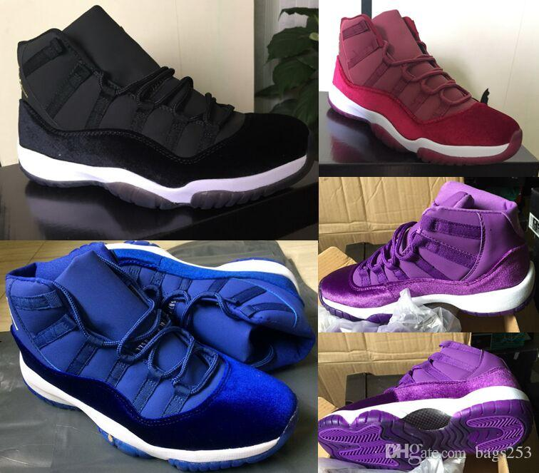 With Box New 11 11s Velvet Purple Flowers Pattern basketball shoes Men Women 11s Velvet Heiress Purple Flowers S Casual shoes High Quality classic cheap online fRQaw