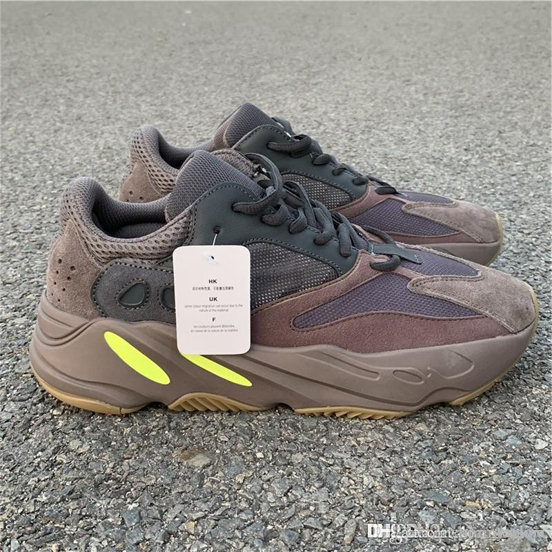 6654ac556b9 2019 2018 New Release 700 Mauve EE9614 WAVE RUNNER Kanye West Running Shoes  For Men Women Authentic Quality Sports Sneakers With Original Box From ...