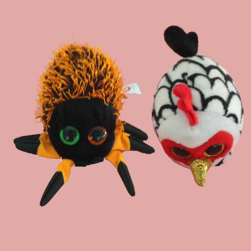 2756bbe7778 2019 TY Beanie Boo Teeny Tys Plush Icy The Seal 9cm Ty Beanie Boos Big Eyes  Plush Toy Doll Spider Cock Tiger Baby Kids Gift From Heathera