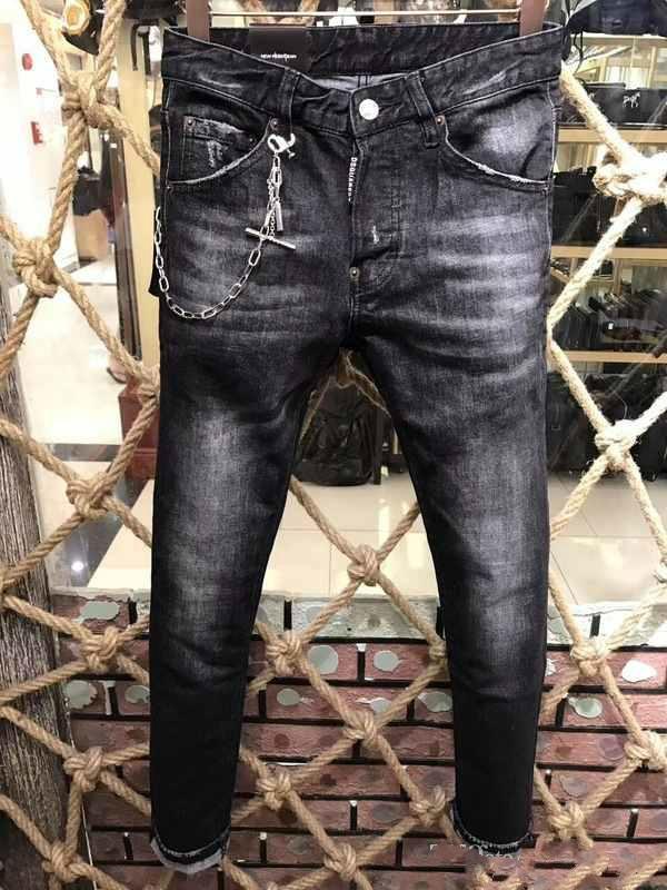 Acquista Autunno E Inverno Nuova Moda Uomo Uomo Jeans Pantaloni Cerniera  Mendicanti Pantaloni Personalità Classica Hip Hop Giovani Uomini Casuali A   74.38 ... 5c3cc75d4ef