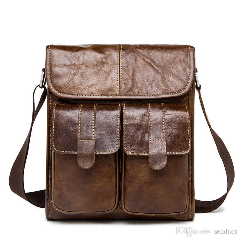 Genuine Leather Men s Bags Crossbody Bags Flap Male Messenger Bag Men  Leather Small Ipad Holder Shoulder Bag Naturally Men Backpack Genuine  Leather Backpack ... 3f4ff56651e77