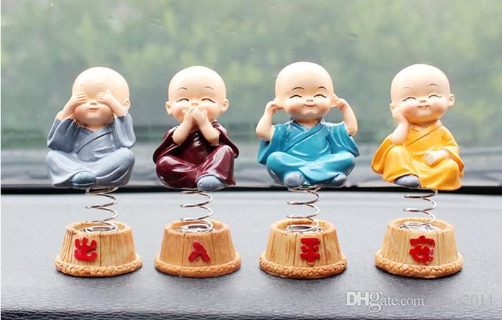 Car Interior Decoration Cute Lovely Buddha Dolls China Toy four don't Monk Resin