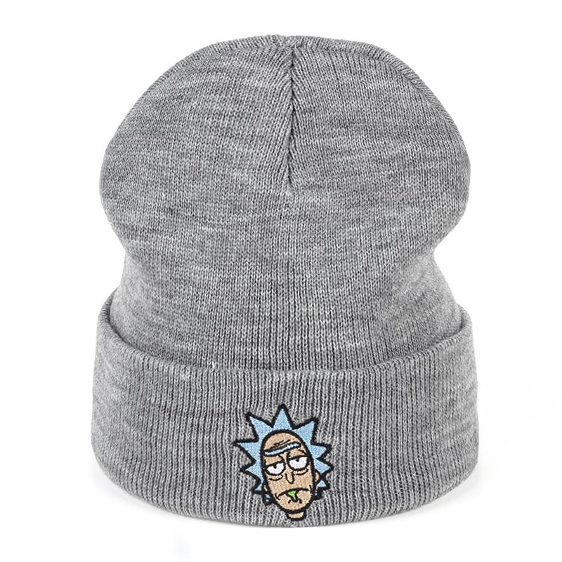 2019 Rick And Morty Winter Hats Rick Beanies Elastic Brand Embroidery Ski  Gorros Cap Warm Unisex Knitted Hat Skullies US Animation From Shinyday 6437df4418f