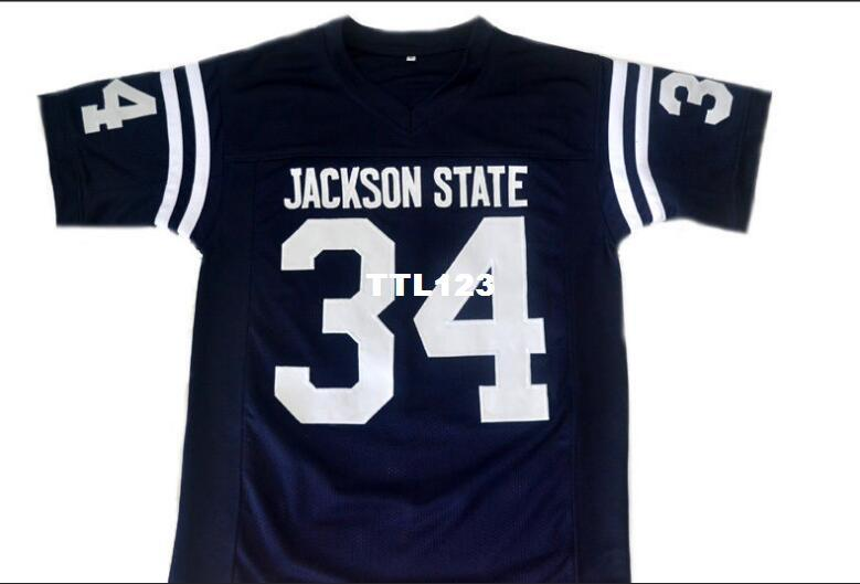 76d600e0114 2019 Men CUSTOM #34 WALTER PAYTON JACKSON STATE College Jersey Size S 4XL  Or Custom Any Name Or Number Jersey From Ttl123, $16.45 | DHgate.Com