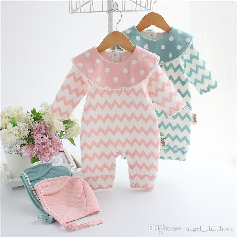 ec57f81e576 Newborn Kids Baby Boy Girl Warm Bodysuit Romper Jumpsuit Hat Outfits Clothes  Set Baby Clothes Clothing Sets Online with  14.86 Piece on Dear kids2019 s  ...