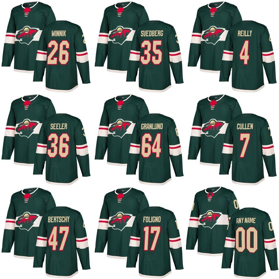 945ee60d2 Mens Minnesota Wild Jersey 26 Daniel Winnik 64 Mikael Granlund 35 ...