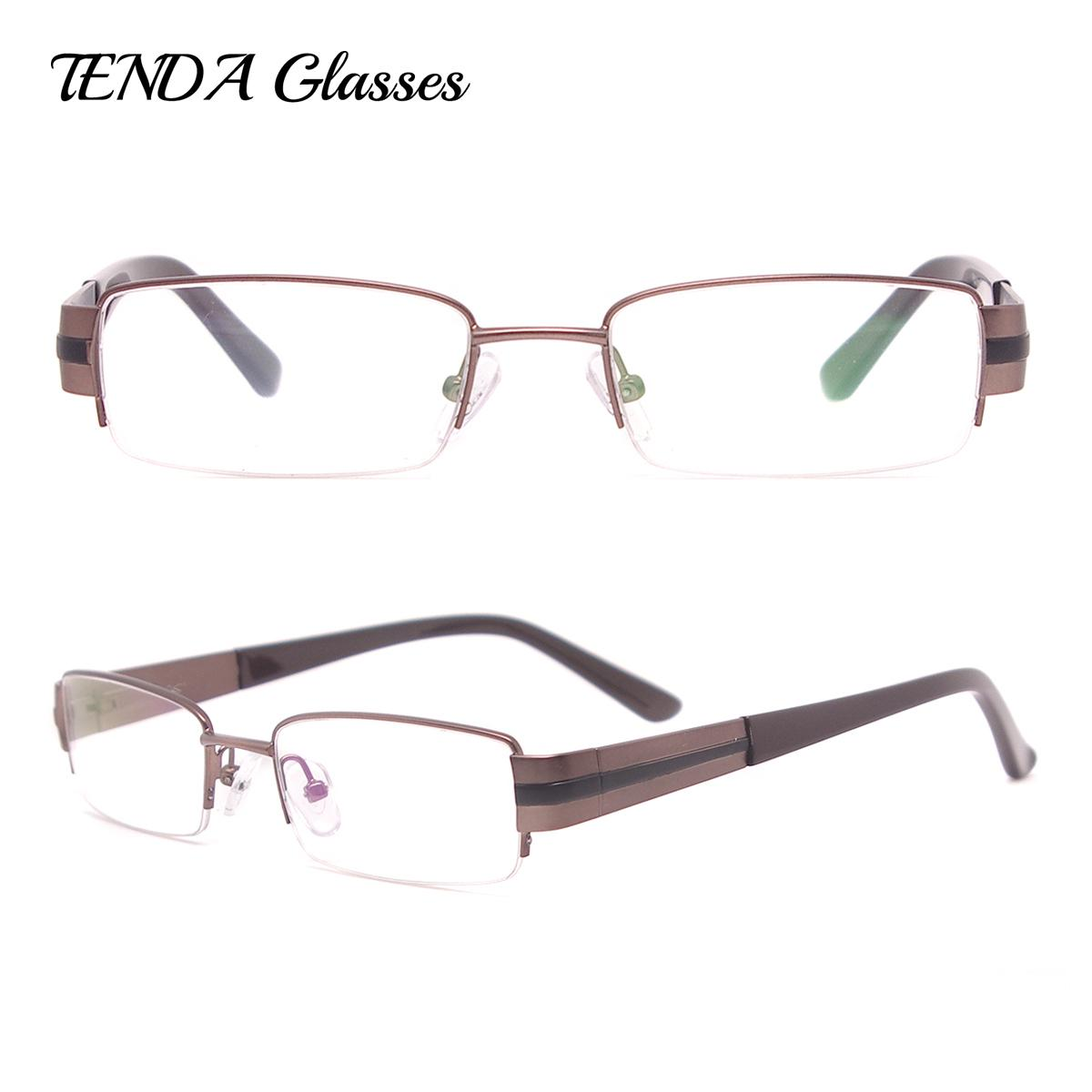595267c2e47 Metal Eyeglass Frames Half Rim Rectangle Spectacles Men Classic  Prescription Glasses For Myopia   Reading Canada 2019 From Gwyseller