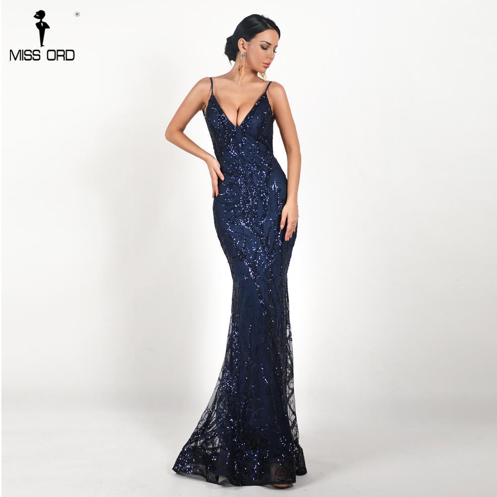 Missord 2018 Women Sexy Deep V Off Shoulder Sequin Dresses Female ... 38467da6044d