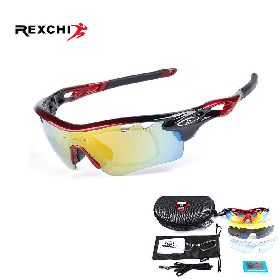 9a7c7990d1a 5 Lens Sports Eyewear Polarized Cycling Sunglasses UV400 Men Women ...