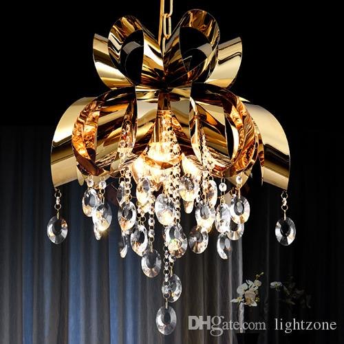 Modern style new design led pendant crystal chandelier lights dining room bedroom pendant light bar club personality led hanging lamps new arrivals pendant