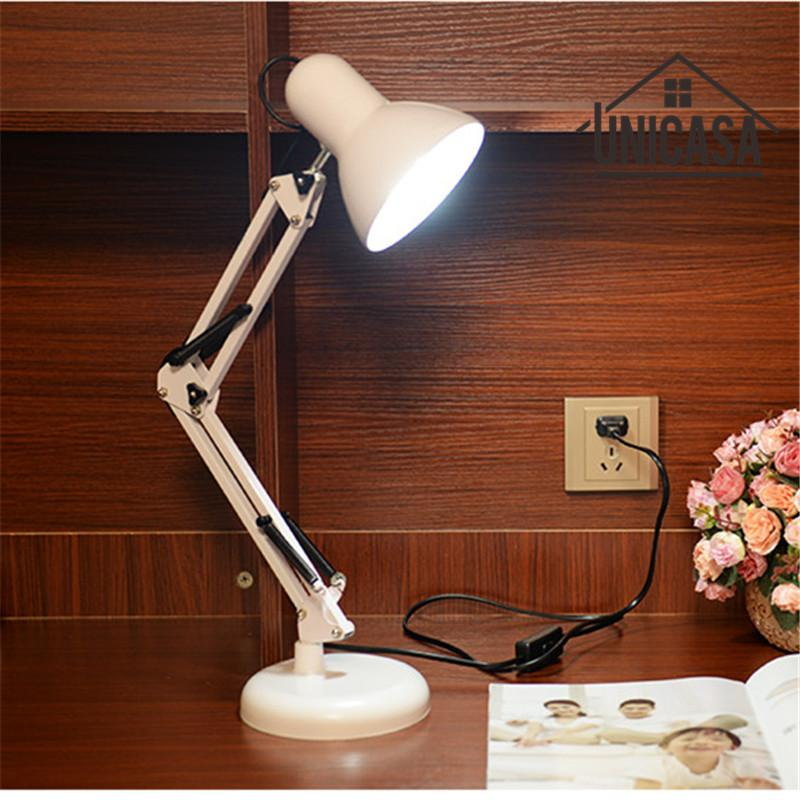 2018 White Desk Lamps Adjustable Clip Table Lights Bedside Desktop Led  Table Lamp Bedroom Office Light Libraly Industrial Lighting From Biaiju, ...