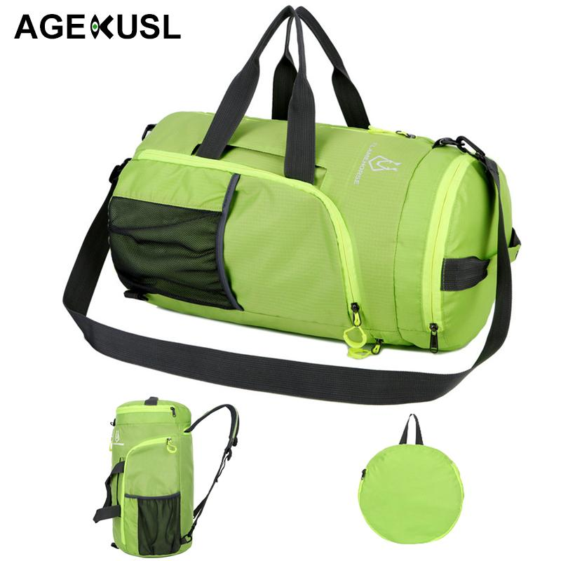 c6ebb78af3d1 AGEKUSL 4 IN 1 Foldable Sport Bags Training Gym Climbing Camping ...