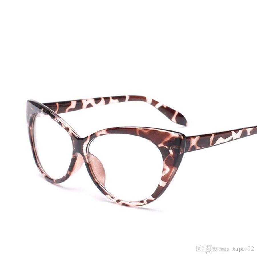 3fbb67f0e Compre Armações De Óculos De Marca Designer De Óculos Olho Mulheres Armações  Oculos Ópticos Óculos De Olho De Gato Armacao De Oculos Masculino De  Super02, ...