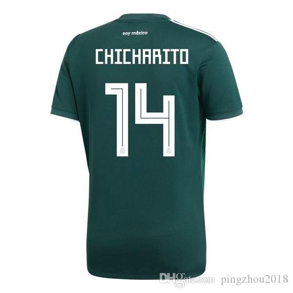 2018 World Cup Mexico Home Soccer Jersey 18 19 G.DOSSANTOS C.VELA Shirt  CHICHARITO O.PERALTA 2019 Mexico Football Jersey Men s T-Shirts Mexico Home  Soccer ... be2614680